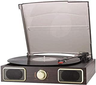 $249 » DSWHM Exquisite and Elegant Music Box Record Player Turntable Wireless Portable LP Phonograph with Built in Stereo Speaker...