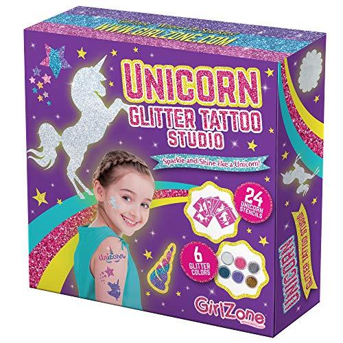 GirlZone Cadeau Fille - Tatouage Paillette Enfant...