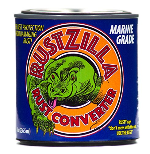 Rustzilla Marine Grade Rust Converter and Rust Remover, Professional Strength For All Metals Including Stainless Steel, Steel, Cast-Iron, 8 OZ