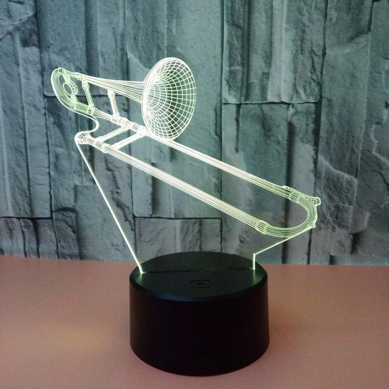 Fdlzz Bunte Schreibtischlampe der Nachtlampen-3D der Schreibtisch-Touch-Fernsteuerungs-3D der Tischlampe-3D für Wohnzimmer,Berührungsschalter
