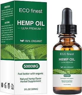 Organic Hemp Oil, 100% Natural Sleep Aid Anti Stress Hemp Extract Drops for Pain, Anxiety & Stress Relief, 5000mg