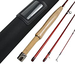 "Aventik Z Short & Light Ultra Light Fly Fishing Rods 6'1"" LW0/1,6'6'' LW2, 6'8'' LW2/3, 7'6'' LW3/4, All in 4 Pieces Fast Action Super Compact Freshwater Fly Rods"