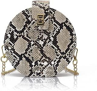 Fashion Crossbody Bag Snakeskin Shoulder Bag with Chain Strap for Women