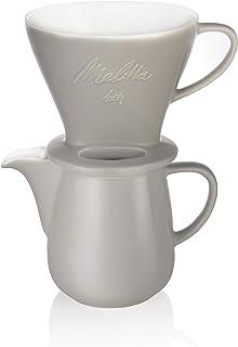 Melitta Porslinsset med kanna och filterkon, klassisk upplaga, 0,6 l, grå, 6768456