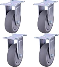 Wielen Silent universeel wiel kunstrubber zware trolley wielen rolsteigers schokbrekers dempen 3/4/5 inch