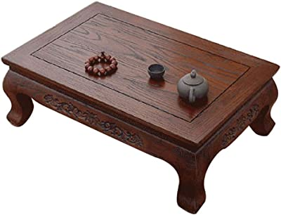Table Solid Wood Bay Window Small Coffee Table Tatami Small Table Flat Table Japanese-Style Tea Table Tables (Color : Brown-B, Size : 70 * 45 * 25CM)