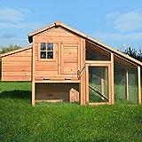 Zooprimus Hühnerstall 145 Geflügelhaus - HÜHNERHAUS-XL - Stall für Außenbereich
