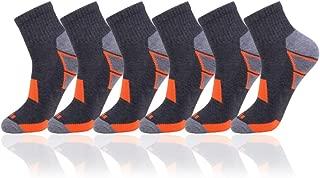 Men's 6 Pack Athletic Performance Cushion Ankle Running Quarter Socks