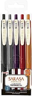 ゼブラ ジェルボールペン サラサクリップ 0.5 ビンテージ追加5色 JJ15-5C-VI2