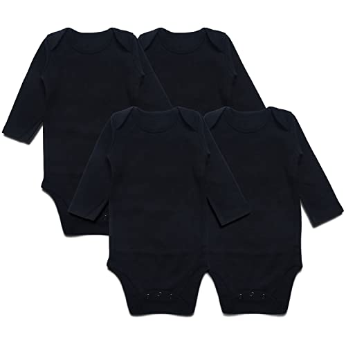 92f64908 SOBOWO Neutral Unisex Baby Bodysuit, Infant Long Sleeve Onsies, Newborn  Girls' Boys'
