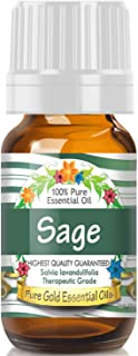 Sponsored Ad - Pure Gold Sage Essential Oil, 100% Natural & Undiluted, 10ml