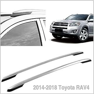 Autoxrun Silver Roof Side Rails Luggage Rack Fits 2014-2018 Toyota RAV4