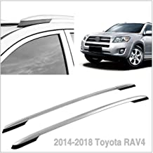 Autoxrun Silver Roof Side Rails Luggage Rack Fits 2014-2018 Toyota RAV4