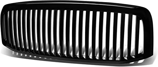 Black ABS Plastic Vertical Style Front Grille for Dodge Ram 1500 2500 3500 Facelifted 06 07 08 2006 2007 2008