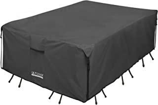ULT Cover 600D PVC Durable Square,Rectangular Oval Patio Table Chair Cover, 100% Waterproof Outdoor Furniture Covers (Rect...