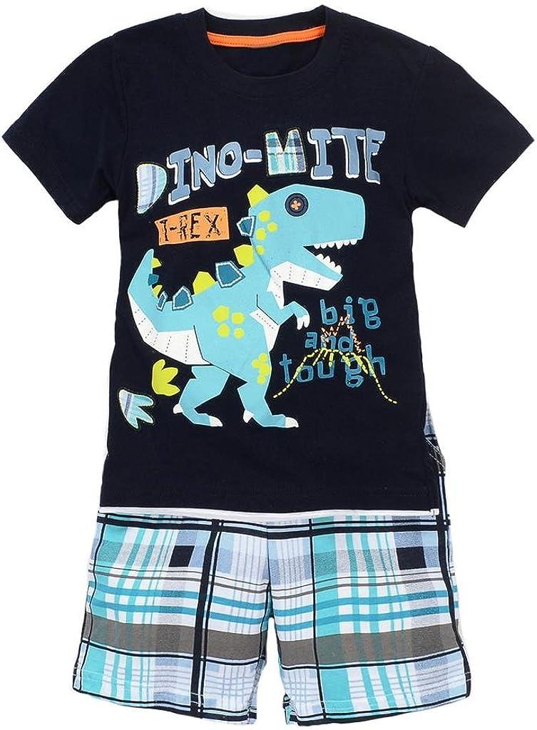 Coralup Toddler Boys Girls Unisex Cotton Shorts 2PCS Clothing Shorts Sets