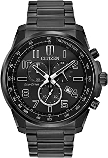 Citizen Men's Analog Eco-Drive Watch with Stainless Steel Strap AT2375-51H
