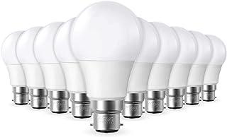 Lot de 10 Ampoules LED B22 9W équivalence 60W 806lm Blanc chaud 2700K, Non-Dimmable