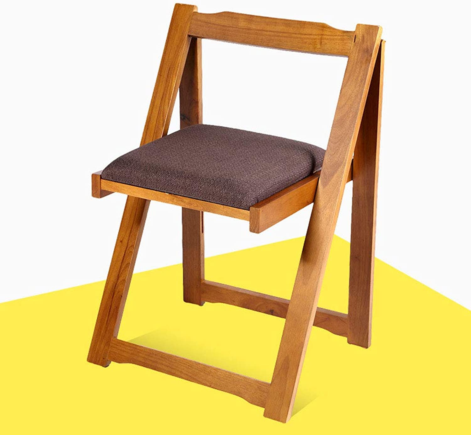 Home Backrest Rubber Wood Solid Wood Dining Chair Foldable Chair Dining Chair