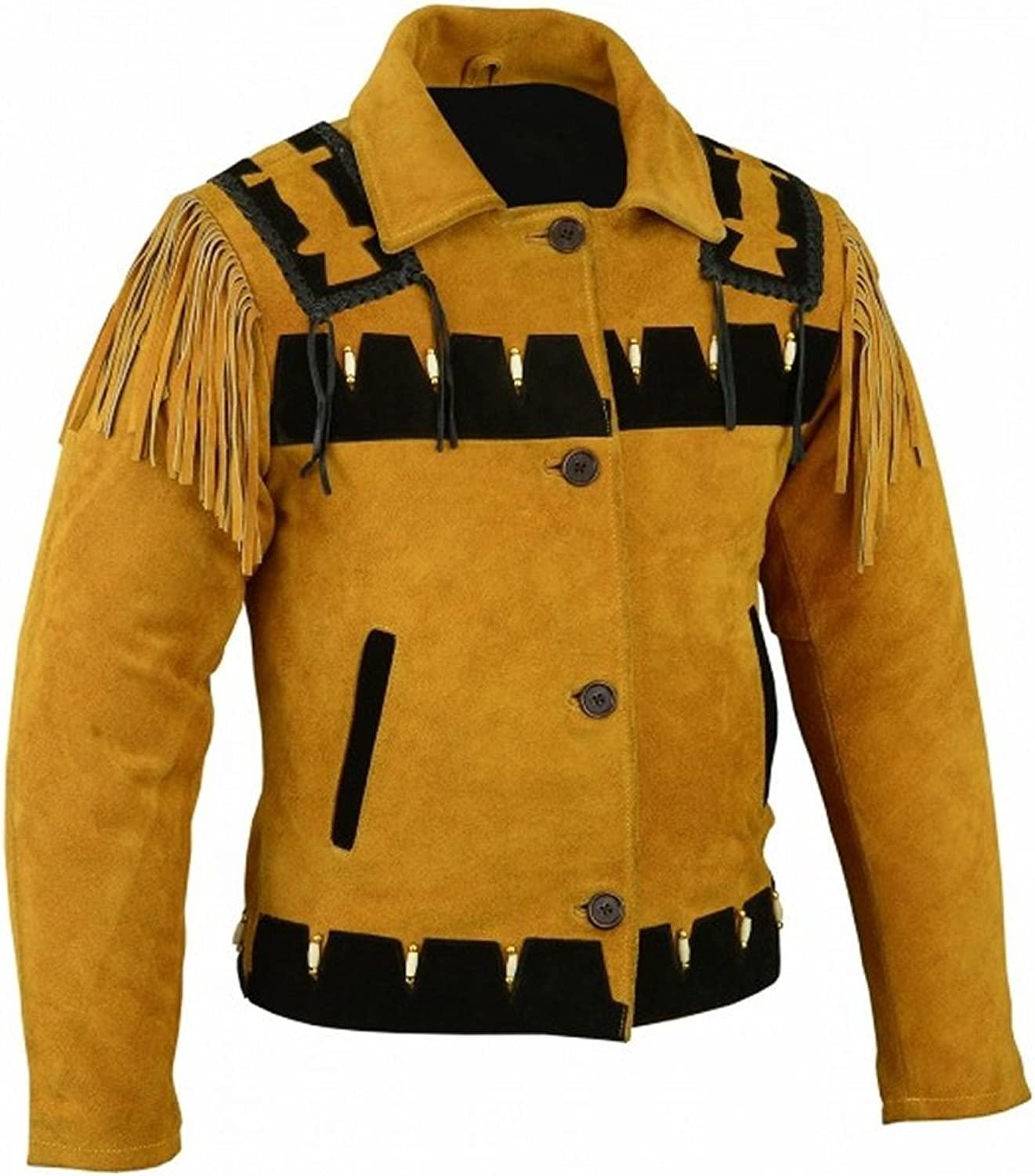 Classyak Women's Carnival Leather Jacket golden Yellow