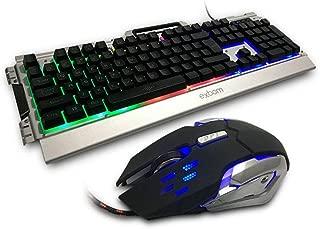 Teclado Gamer Semi Mecânico Com Acabamento Em Metal Prata + Mouse 3000dpi