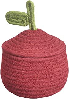 Inwagui Corde de Coton Panier avec Couvercle Gourd Forme Petit Boîte de Rangement pour Jouets Bébé, Maquillages, Décor de ...