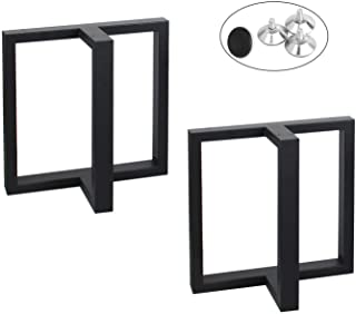 MBQQ 家具脚 高さ15.7インチ 幅17.7インチ 素朴な装飾T型テーブル脚 高耐久メタルデスク脚 ダイニングテーブル脚 工業モダン DIYアイロンベンチ脚
