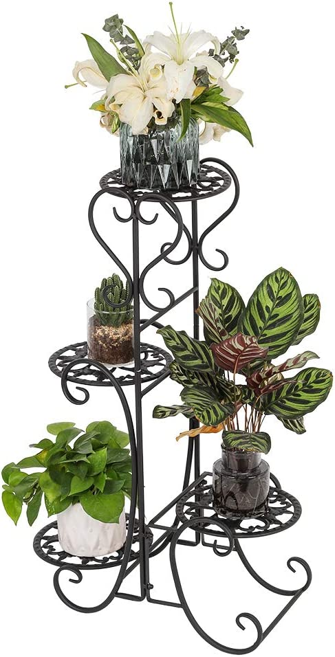 Max 90% OFF Flower Metal Shelves 4 Tier Potted Direct store Stands for Plant Bonsai Shelf