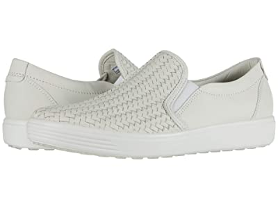 ECCO Soft 7 Woven Slip-On II (Shadow White Cow Leather) Women