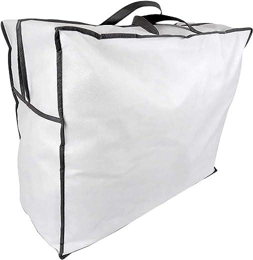 5er-Pack Aufbewahrungstasche für Bettdecken und Kissen, Trage-Tasche für Bettzeug oder Matratzenauflagen, handliche Reißverschluss-Box aus Vlies in…