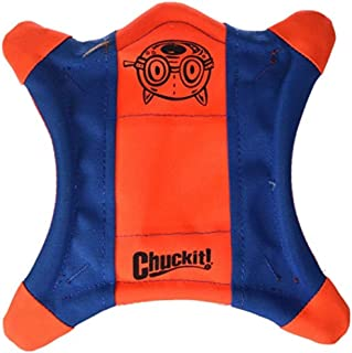 ChuckIt Flying Squirrel Spinning Dog Toy (Orange/Blue) Multicolor Medium (10 in x 10 in) (0511300)