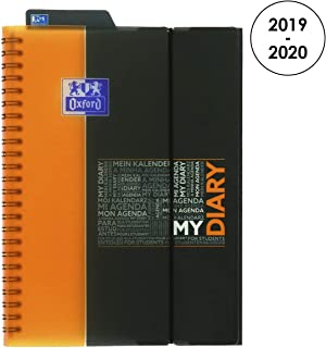 Oxford 100735782Weekly Academic Student Diary 2018-20191Week on 2Pages, 15x 21cm, Orange