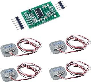 4pcs 50kg Half-bridge Load Cell Body Scale Weighting Sensor Amplifier+ 1pcs HX711 AD Weight Module Geekstory