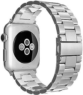 Simpeak Correa Compatible con Apple Watch 6/SE/5/4/3/2/1 Correa 42mm de Acero Inoxidable Reemplazo de Banda de la Muñeca c...