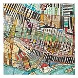 Bilderwelten Leinwandbild Holzrahmen - Moderne Karte von