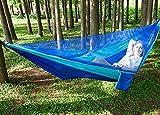 LACHUMU Hamaca de camping con red ligera, soporta hasta 350 kg, hamacas portátiles para interiores, senderismo, mochileros, viajes, hamaca para patio trasero (color camuflaje)