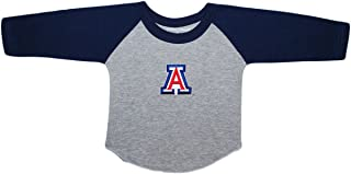 University of Arizona Wildcats Baby and Toddler 2-Tone Raglan Baseball Shirt