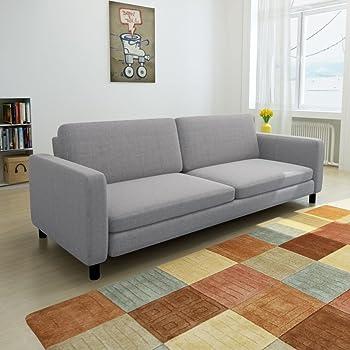 XINGLIEU Sofá Cama Gris Claro,Sofa de Jardin Exterior,Sofa Reclinable,Tela + Madera 196 x 87 x 81 cm: Amazon.es: Hogar