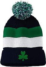 Custom Vintage Pom Pom Beanie Shamrock Embroidery Skull Cap Hat for Men & Women
