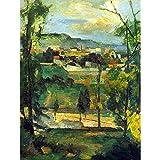 Wee Blue Coo Paul Cézanne Village Behind Trees ILE De