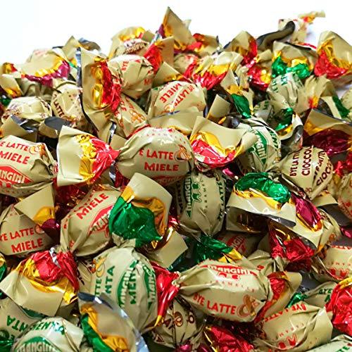 Caramelle di Cortesia Bye Bye Latte Mangini Kg 1 - Piccole Caramelle al latte ripiene di: Menta, Cioccolato e Miele - Confezione da 400 caramelle