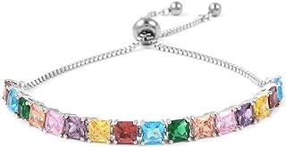 Hypoallergenic Square Cubic Zirconia CZ Orange Tennis Bracelet for Women Cttw 9.1 Jewelry