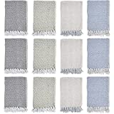 Arkwright Common Threads Cotton Blankets, Pack of 12 Sundry Throw Blanket (50 x 70 Inch) (Diagonal)