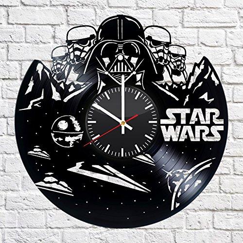 wtnhz Reloj de Pared con Disco de Vinilo LED Reloj de Pared con Disco de Vinilo Reloj De Pared De Vinilo Musical Reloj Colgante Vintage Decoración de Arte