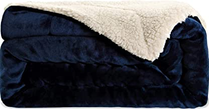 SNUZZZZ Sherpa Blanket Throw for Travel, Picnic, Camping | Thermal Comfy Minky Furry Soft Warm Fleece Thick Fuzzy for Bed Couch Sofa