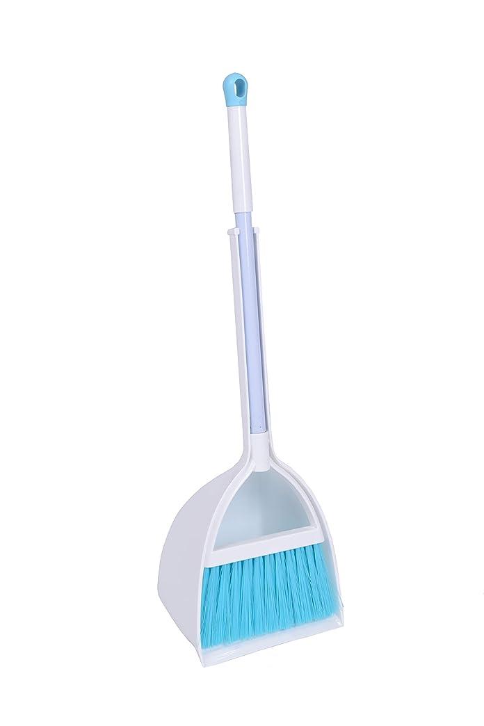 切り下げシリンダー追い越すQidiwin ミニほうきブラシとちりとりセッ、家やオフィスでの扫除、ちりとり、子供の家事の清洁な道具などを使う (はくしょく+ブルー)