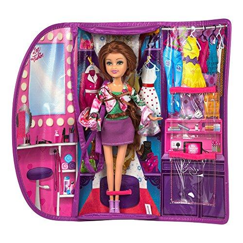 ColorBaby - Muñeca Sparkle Girlz 27 cm & bolso violeta y brillantes...