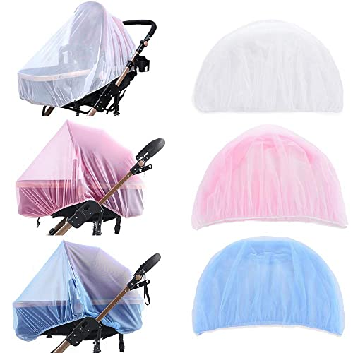 Pink NUOLUX Newborn Baby Mosquito Net Mesh Cover for Strollers Carriers Car Seats Cradles