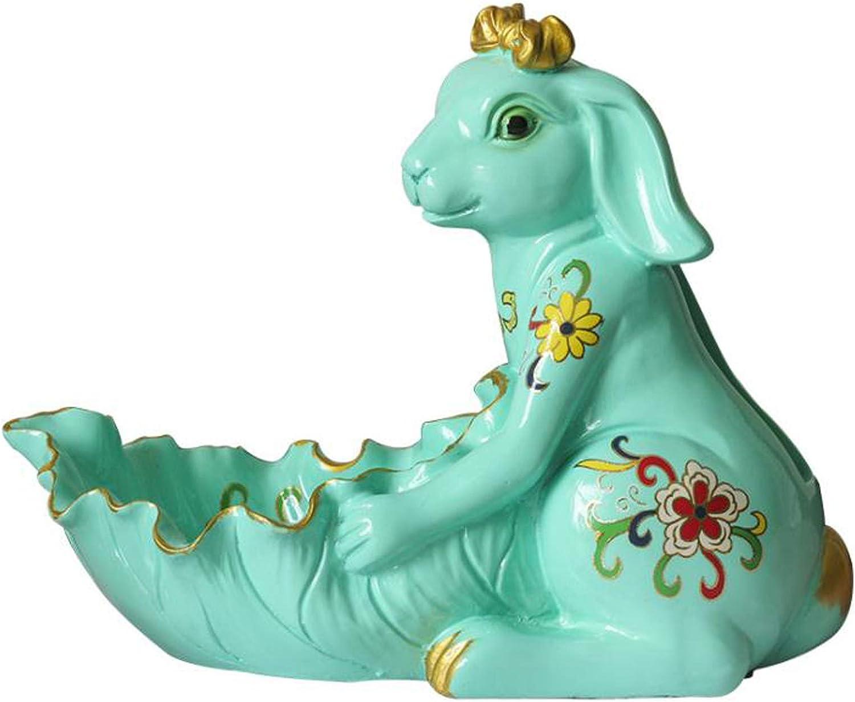 Cute Jacksonville Mall Resin Max 53% OFF Rabbit Animal Decor Jewelr Ceramic Storage Bunny Box