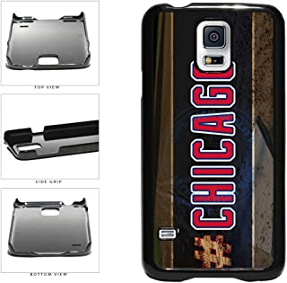 BleuReign(TM) Hashtag Chicago #Chicago Blue and Red Baseball Team Plastic Phone Case Back Cover For Samsung Galaxy S5